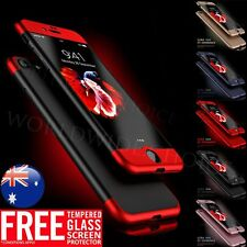 Hybrid Hard Ultra thin Case Tempered Glass Cover For Apple iPhone 7 Plus 6 6s 6+