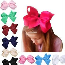 New Alligator Clips Girls Large Bow Ribbon Kids Accessories Hair Clip FV88