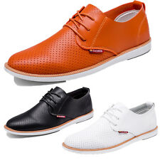 New Men Formal PU Leather Flat Lace Up Shoes Dress Party Work Office Shoes Size
