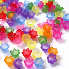 Acrylic Bell Flower Beads, Mix Colors