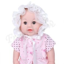Infant Girls Baby Ribbon Bonnet Chin Caps Kids Flower Pricess Outdoor Sun Hats