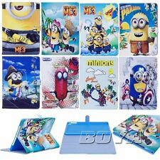 Spiderman Minions Case for Apple iPad Air2/234/Pro 9.7 PU Leather Stand Cover
