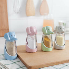 Elephant Condiment Jar Cruet Barbecue Pepper Pot Food Seasoning Salt Bottle