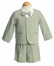 Baby Infant Boys Easter 4 pc Eton Jacket & Shorts Suit Set Green 12 - 18 months