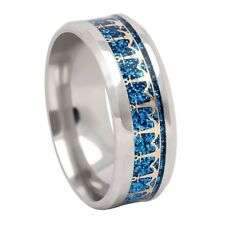 Anchors Stainless Steel Blue Comfort Fit Wedding Band Ring GLK Collection