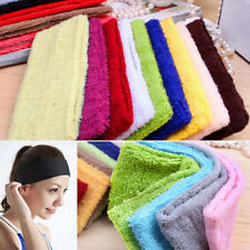 1Pcs Sweatband Terry Cotton Towel Headbands Yoga/Gym/Workout Sweatbands 14 Color