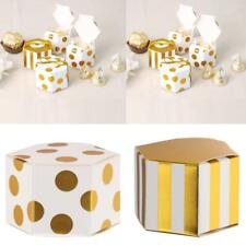 50x Hexagon Candy Boxes Wedding Birthday Party Favour Gift Boxes Dots/Strips