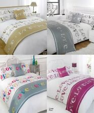 Duvet Cover with Pillow Case Runner  Quilt Cover Bedding Set Single Double King