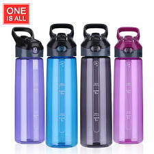 700ml BPA Free Tritan Water Bottle Portable Sports Bottle with Straw Plastic Cup