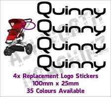 4x Quinny Buzz or Zapp Pushchair Replacement Logo Stickers 35 Colours