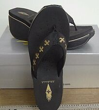 Gold & Black FDL Wedge Sandals by Volatile Sizes 6 & 8 Brand New In Box w/tags