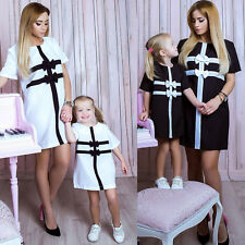 Mother Daughter Family Matching Dress Dresses Girls Womens Daily Striped Dress