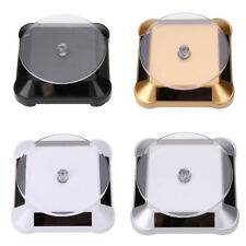 Rotating Solar Power Jewelry Phone Watch Display Stand Holder Turn Table Dulcet