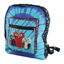 Hippie Hobo Boho Tie Dye Backpack - Unique Retro Owl Designed Shoulder Bag