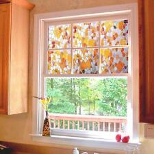 3D Static Cling Stained Glass Paper Frosted Privacy Window Film Decorative Home
