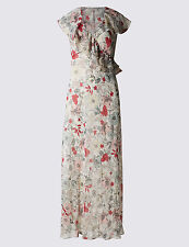 Ex Marks and Spencer Per Una  Floral Maxi Dress Size 20 Long