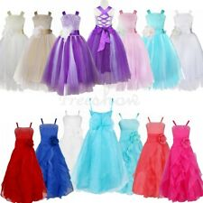 Flower Girl Baby Kids Wedding Princess Bridesmaid Birthday Party Prom Long Dress