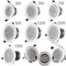 Dimmable LED Recessed Ceiling Down Light 85-265V Lamp 3W 5W 7W 9W 12W 15W 18W