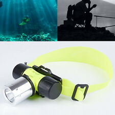 2400Lm CREE T6 LED Waterproof Underwater Diving Head light Flashlight Torch 10W