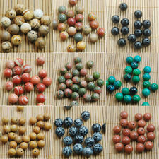 Wholesale Real Natural Genuine Stone  Round Spacer Loose Beads 4,6,8,10,12mm