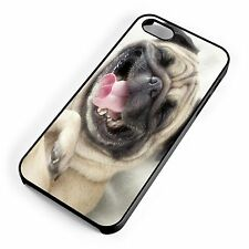 Cute Pug Smiling Happy Face Fun Cool Quirky For iPhone Range Hard Cover Case