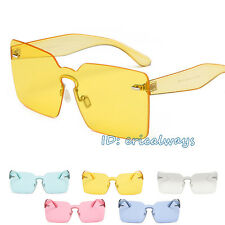 Unisex No Frame Luxury Sunglasses Transparent Lens Sun Glasses Eyewear UV400 5d