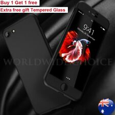For iPhone 6 6s 7 PLus Case Ultra thin Hard 3in1 360° Protective +Tempered Glass