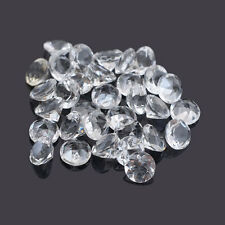 Natural White Crystal Quartz Round Cut 1mm - 16mm Calibrated Size Loose Gemstone