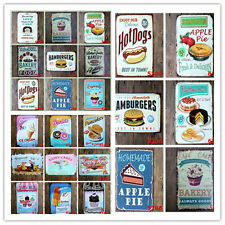 Food Shop Bar Pub Club Cafe Home Plate Wall Decor Metal Tin Sign Poster Plaque