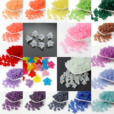 770pcs/500g Transparent Acrylic Flower Beads Frosted Bead Caps Wholesale 16x12mm