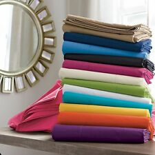 2 PC Pillow Cases Solid Striped Colors US King Size 800 TC Egyptian Cotton