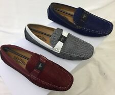 MEN GIOVANNI DRESS SHOES PROM LOAFER CASUAL STYLE SLIP-ON WHITE RED BLUE M788-40