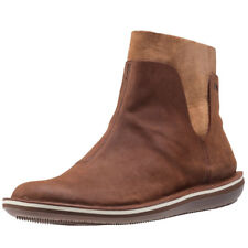 Camper Beetle Mid Womens Brown Leather Casual Ankle Boots Zip Genuine Shoes