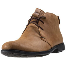 Camper 1913 Mens Orange Leather Casual Chukka Boots Lace-up Genuine Shoes