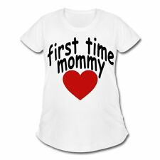 Pregnancy First Time Mommy Heart Women's Maternity T-Shirt by Spreadshirt™