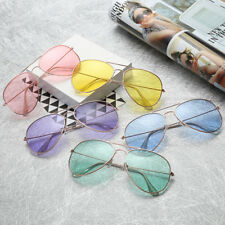 Retro Unisex Women Men Vintage Aviator Sunglasses Glasses Eyewear Ocean Color