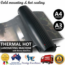 A3 A4 Document Laminator Home Office Thermal Hot Laminating Machine Free Pouches