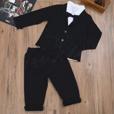 Baby Boys Kids Toddler Formal Gentleman Shirt & Pants Romper Outfits Clothes Set