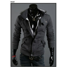 Zipper Hoody Hoodies Hooded Mens Slim Long Sleeve Coat Jacket Sweatshirt Tops
