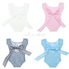Newborn Baby Girls Clothes Lace Romper Jumpsuit Bodysuit Photo Props Costume New
