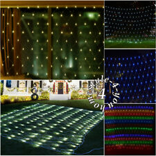 3M x 2M LED Curtain Window Net Mesh Web Twinkle Fairy String Party Event Lights