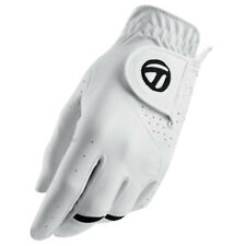 TaylorMade Mens All Weather Left Hand Golf Glove - New Leather White Sizes 2018