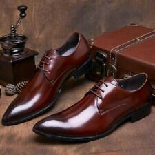 Stylish Mens Business Leather Dress Formal Oxfords Shoes Lace Up Wedding