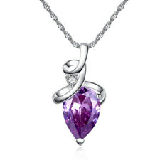 Newly Charm Womens Drip Crystal Zircon Chain Pendant Necklace Jewelry Love Chain