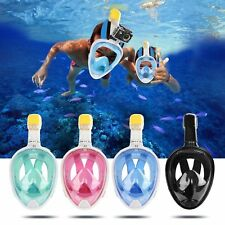 Full Face Anti-Fog Mask Swimming Surface Goggles Diving Snorkel Scuba for GoPro