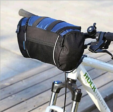 Bike Bicycle Front Basket Bicycle Pannier Riding Cycling Handlebar Bag Blue New
