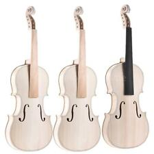Full Size 4/4  Natural Solid Wood Acoustic Violin DIY Set High Quality Hot I4E8