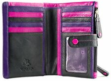 Visconti M87 Ladies Girls Genuine Leather Bi-fold ID Card Holder Wallet Purse