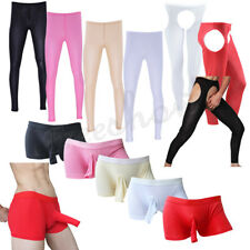 Sexy Mens See-through Underwear Pants Tight Leggings Trousers Underpants Elastic
