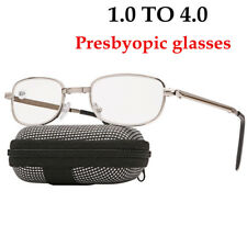 Light Portable Unisex Metal Folding Reading Glasses Presbyopic With Pocket Case